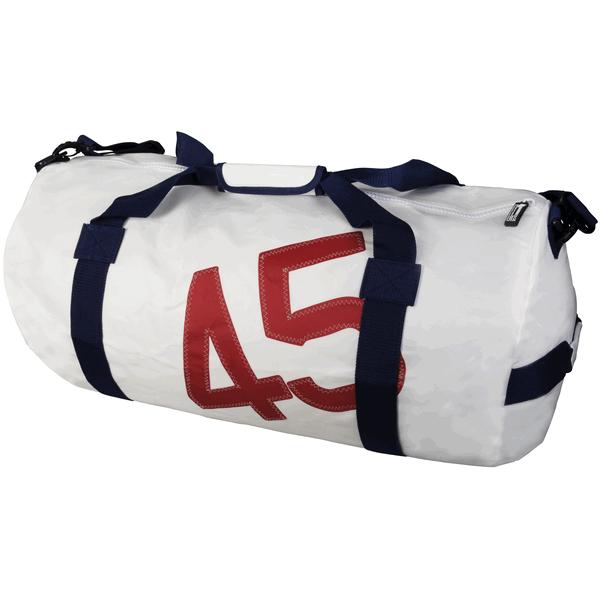 Sailcloth Barrel Bag White Large 70 X 37cm 75l